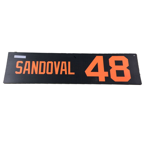 Photo of San Francisco Giants - 2x All-Star Pablo Sandoval - 2014 World Series Parade Banner