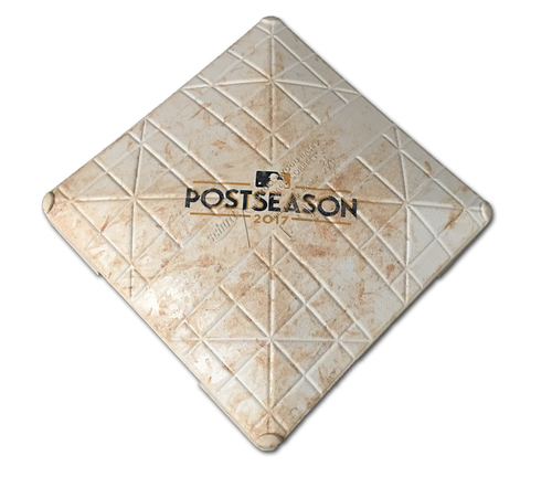 Photo of Game-Used 2nd Base -- NLCS Game 3 -- Used in Innings 5 through 6 -- Dodgers vs. Cubs -- 10/17/17