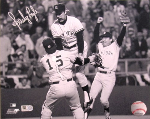 Photo of Sparky Lyle Autographed Yankees 8x10