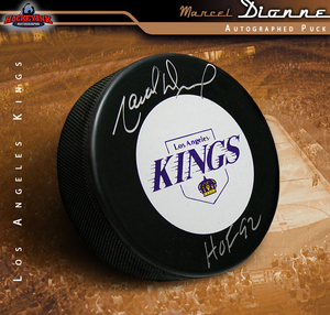 MARCEL DIONNE Signed Los Angeles Kings Puck