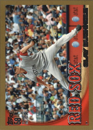 Photo of 2010 Topps Gold Border #572 Clay Buchholz
