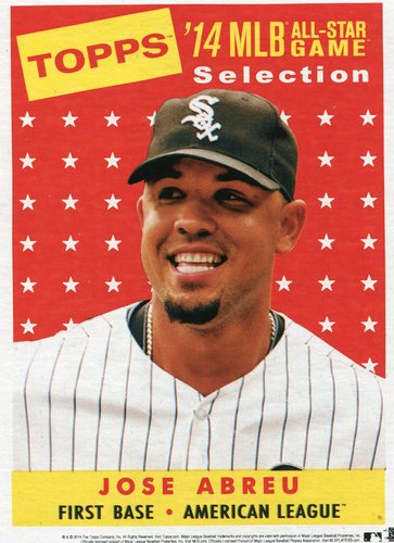 Photo of 2014 Topps 5x7 All-Star Selection Jose Abreu -- Part of exclusive Minneapolis FanFest set