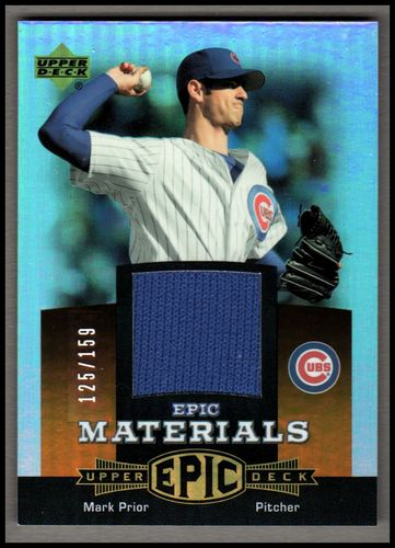 Photo of 2006 Upper Deck Epic Materials Dark Orange #MA Mark Prior Jsy/159