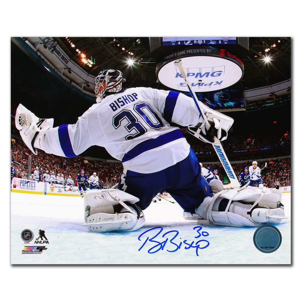 Ben Bishop Tampa Bay Lightning NET CAM Autographed 8x10