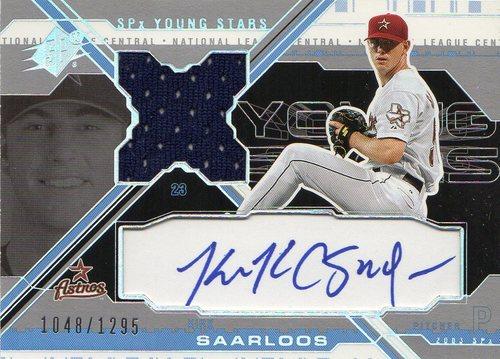 Photo of 2003 SPx Young Stars Autograph Jersey #KS Kirk Saarloos/1295