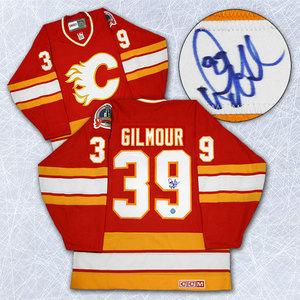 Doug Gilmour Calgary Flames Autographed Retro CCM 1989 Stanley Cup Jersey