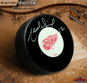MARCEL DIONNE Signed Detroit Red Wings Puck