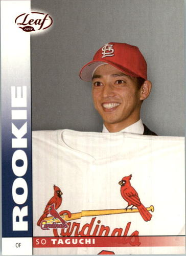 Photo of 2002 Leaf Press Proofs Red #201 So Taguchi/500