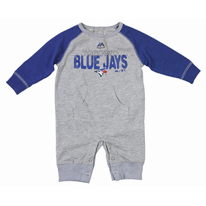 Newborn Slide Home Romper Grey/Royal by Majestic