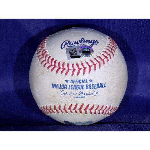 Photo of Game Used Baseball - Yonder Alonso Double and RBI April 7, 2017
