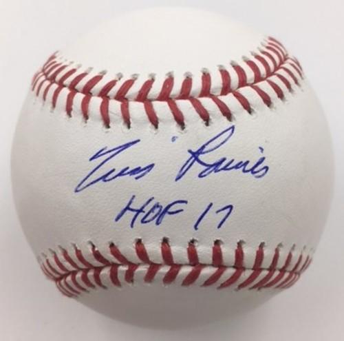 """Photo of Tim Raines Autographed """"HOF 17"""" Baseball"""