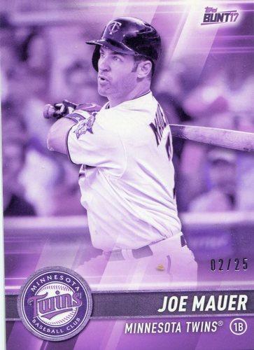 Photo of 2017 Topps Bunt Purple #152 Joe Mauer 2/25-- Twins post-season