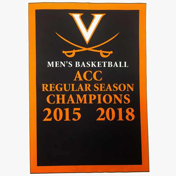 UVA Men's Basketball Replica ACC Regular Season Champion Banner Signed by the 2018 Championship Team