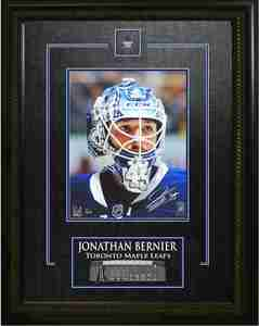 Jonathan Bernier - Signed & Framed 8x10 Etched Mat - Toronto Maple Leafs Closeup - FATHER'S DAY SPECIAL