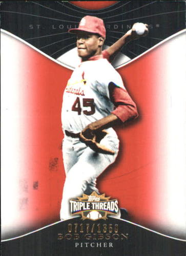 Photo of 2009 Topps Triple Threads #97 Bob Gibson