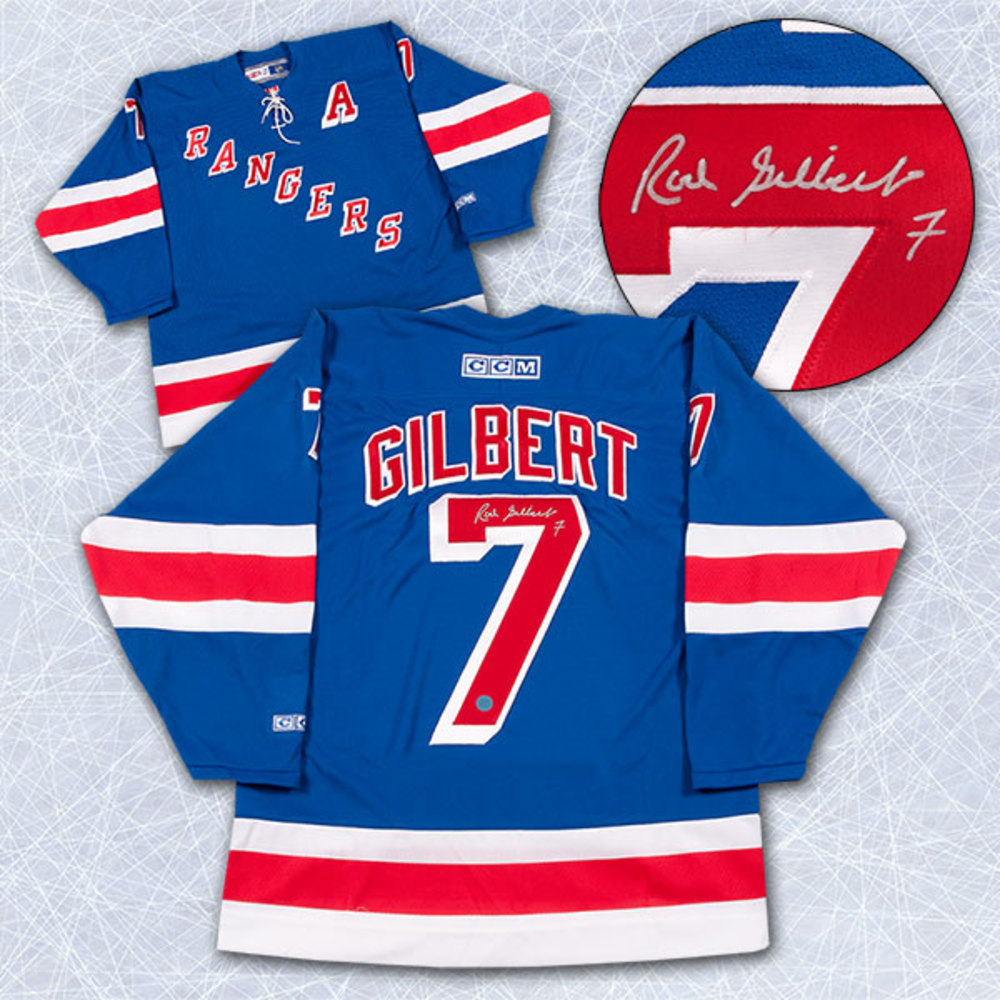 Rod Gilbert New York Rangers Autographed Retro CCM Vintage Hockey Jersey