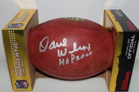 HOF - 49ERS DAVE WILCOX SIGNED AUTHENTIC FOOTBALL