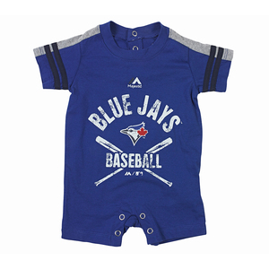 Toronto Blue Jays Newborn Classic Stripe Romper by Majestic