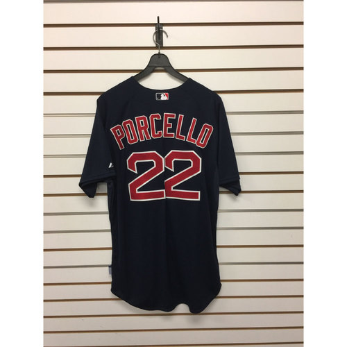 Photo of Rick Porcello Team-Issued 2015 Road Alternate Jersey
