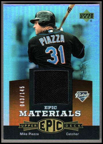 Photo of 2006 Upper Deck Epic Materials Dark Orange #MP1 Mike Piazza Jsy/145