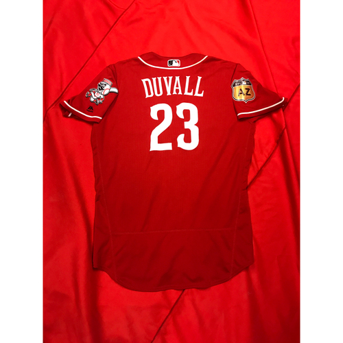 Photo of Adam Duvall -- Team-Issued Jersey -- 2017 Spring Training