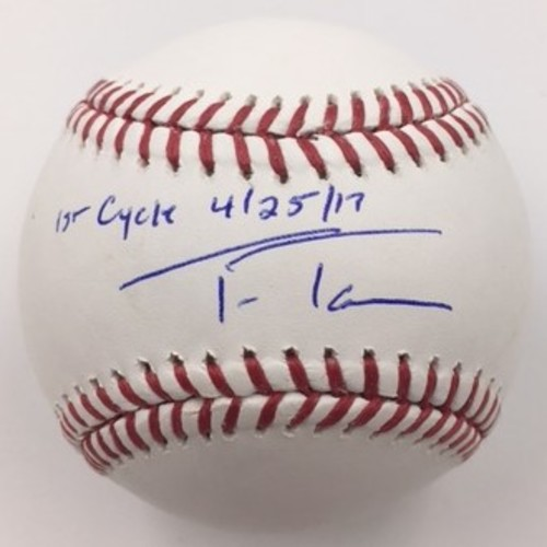 "Photo of Trea Turner ""1st Cycle 4/28/17"" Autographed Baseball"