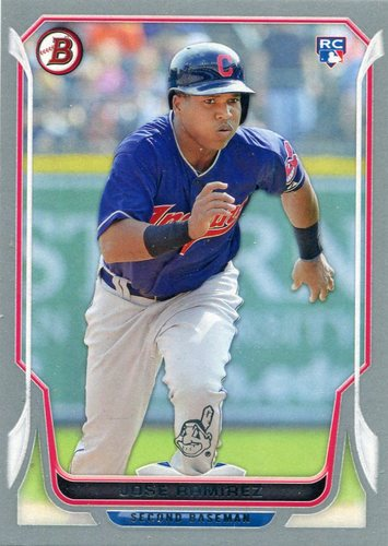 Photo of 2014 Bowman Silver #176 Jose Ramirez 15/75 -- Indians post-season