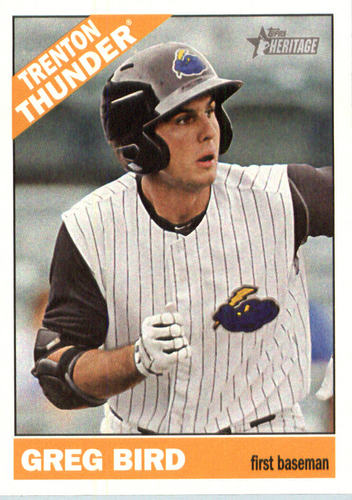 Photo of 2015 Topps Heritage Minors #52 Greg Bird -- Yankees post-season