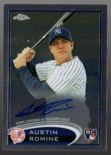 Photo of 2012 Topps Chrome Rookie Autographs #156 Austin Romine -- Yankees post-season