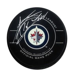 Andrew Ladd - Signed Winnipeg Jets Inaugural Season Puck