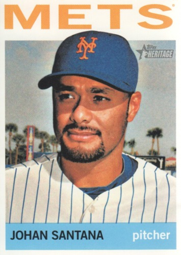 Photo of 2013 Topps Heritage #113 Johan Santana