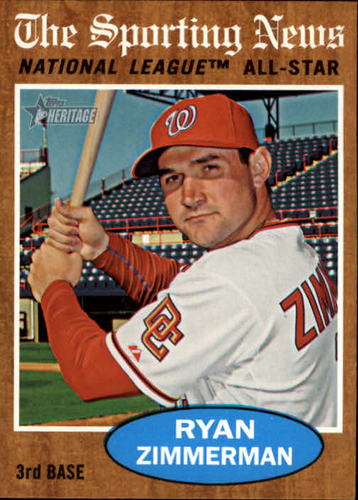 Photo of 2011 Topps Heritage #392A Ryan Zimmerman AS