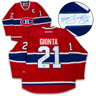 Brian Gionta Montreal Canadiens Autographed Reebok Premier Jersey