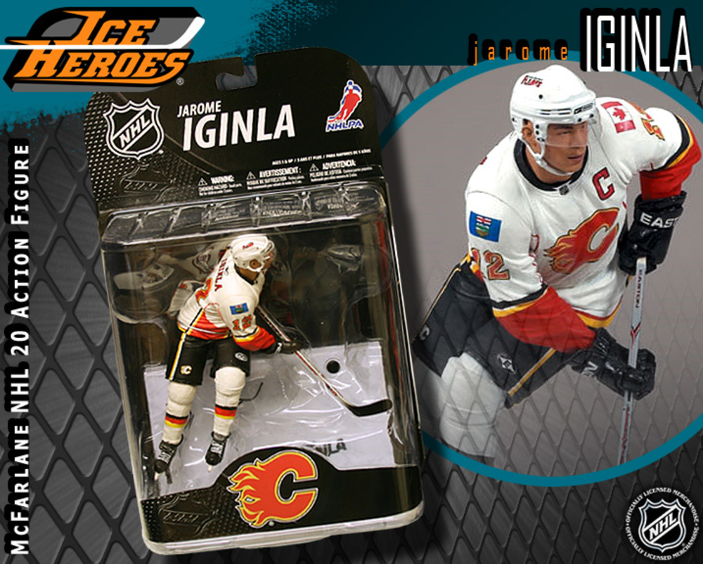 JAROME IGINLA McFarlane Series 20 Action Figure - MIB - Calgary Flames