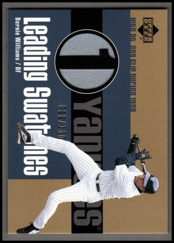 Photo of 2003 Upper Deck Leading Swatches Gold #BW1 Bernie Williams 339 AVG