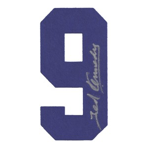 Ted  Kennedy (deceased) autographed Toronto Maple Leafs Felt Sweater Number