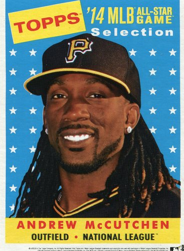 Photo of 2014 Topps 5x7 All-Star Selection Andrew McCutchen -- Part of exclusive Minneapolis FanFest set