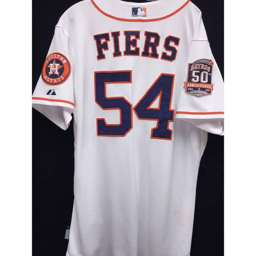 Photo of Game-Used 2015 Mike Fiers Home Jersey