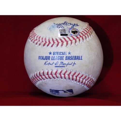 Photo of Game Used Baseball - Jonathan LuCroy Single off Danny Salazar April 5, 2017