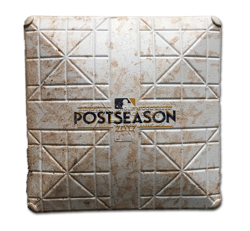 Photo of Game-Used 3rd Base -- NLDS Game 4 -- Used in Innings 7 through 8 -- Nationals vs. Cubs -- 10/11/17