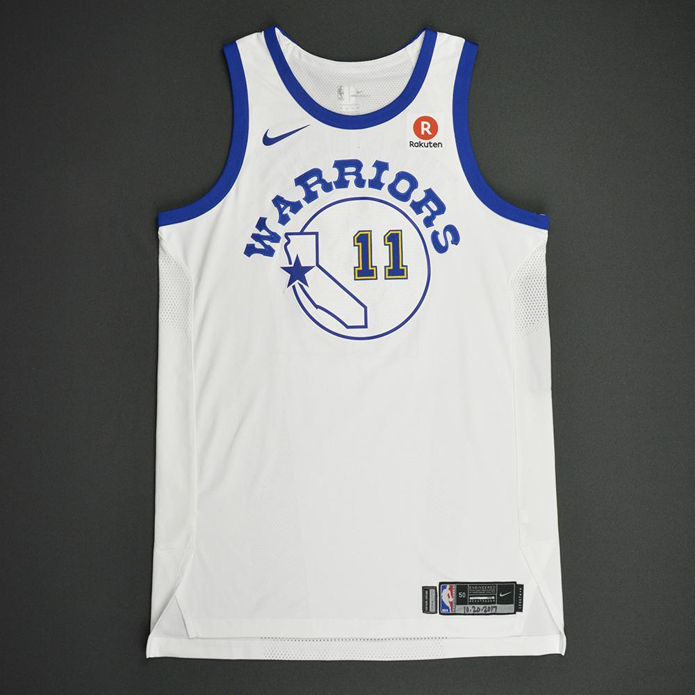 Klay Thompson - Golden State Warriors - Classic Edition 1984-87 Home Style Game-Worn Jersey - 2017-18 Season