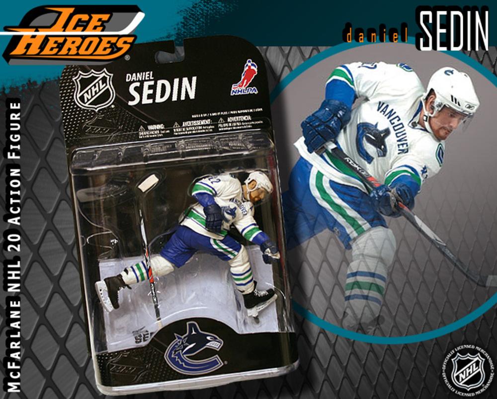 DANIEL SEDIN McFarlane Series 20 Action Figure - MIB - Vancouver Canucks