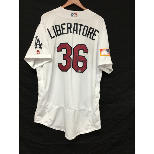 Photo of Adam Liberatore Game-Used 4th of July Jersey