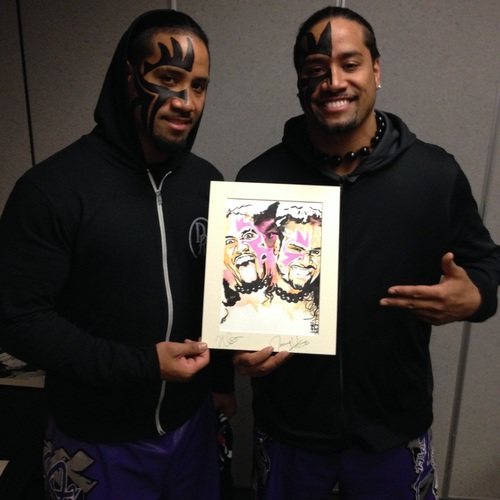 The Usos Signed Painting by Rob Schamberger