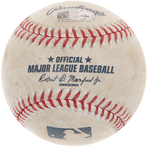 Photo of Game-Used Baseball from Bryce Harper's 100th Career Homerun Game