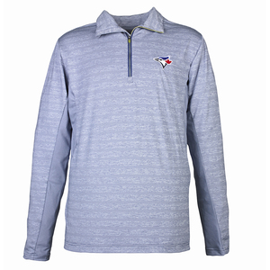 Toronto Blue Jays Tsunami 1/4 Zip Pullover Sweatshirt Royal by Antigua