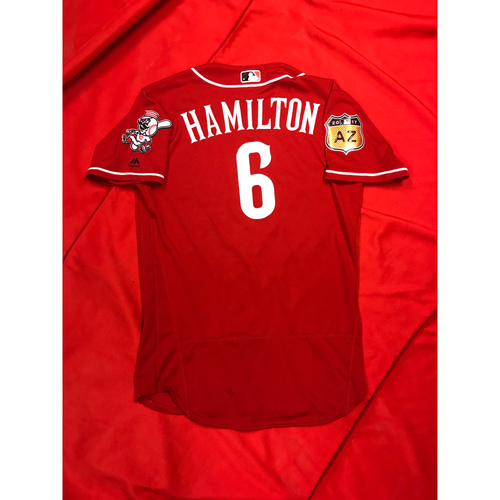 Photo of Billy Hamilton -- Team-Issued Jersey -- 2017 Spring Training