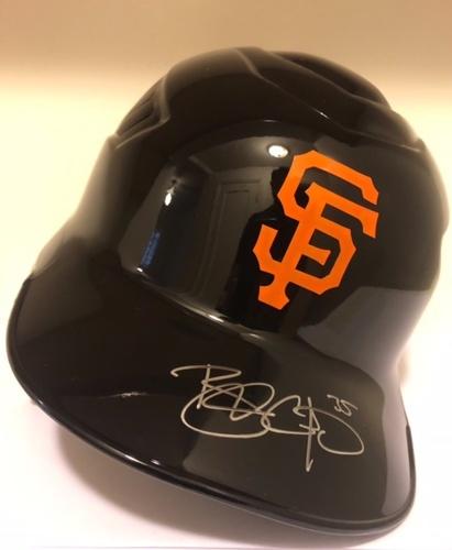 Photo of Brandon Crawford Autographed Giants Helmet