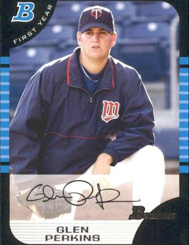 Photo of 2005 Bowman #170 Glen Perkins Rookie Card -- Twins post-season
