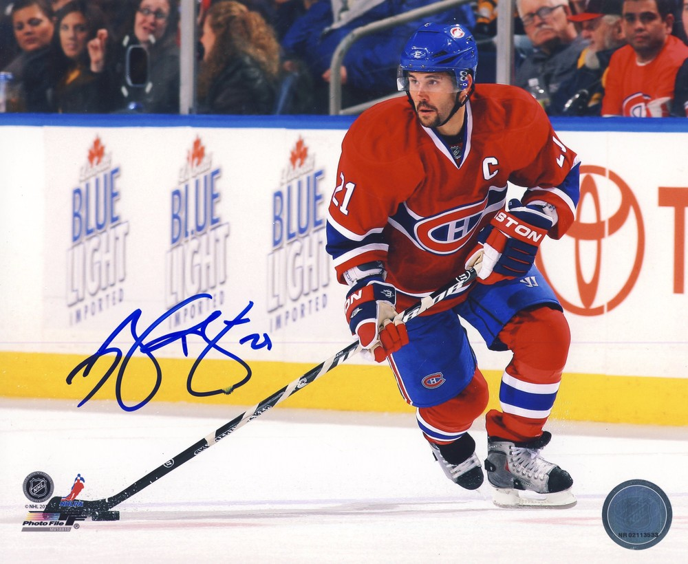 BRIAN GIONTA Montreal Canadiens SIGNED 8x10 Captain Photo *Autograph Slightly Smudged*
